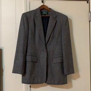 LAUREN Ralph Lauren Herringbone Wool Blend Blazer